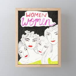 Women Stick Together Framed Mini Art Print