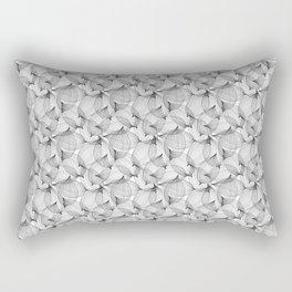 Black Leaves Rectangular Pillow