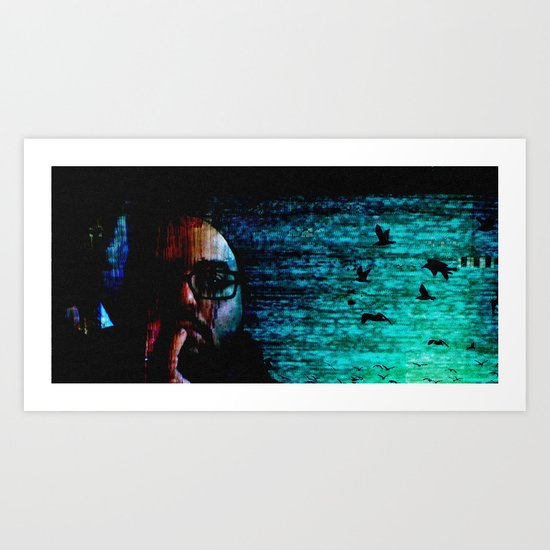 only when I loose myself Art Print