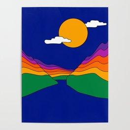 Rainbow Ravine Poster