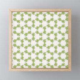 four-leaf clover leaves pattern Framed Mini Art Print