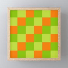 Minimal Trendy Checkerboard Minokawa Framed Mini Art Print