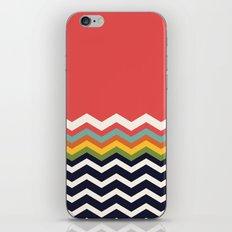Retro Chevrons (navy and salmon) iPhone & iPod Skin