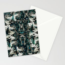 Teal Animal Print Pattern Stationery Cards