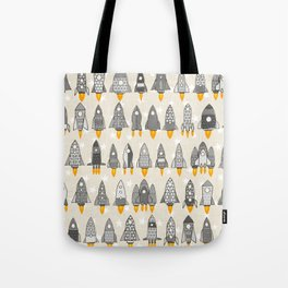 retro rockets mono Tote Bag