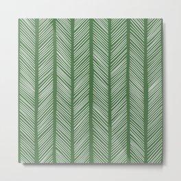 Evergreen Herringbone 2 Metal Print