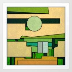 Abstract Cubist 3 Art Print