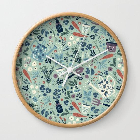 Herb Garden Wall Clock