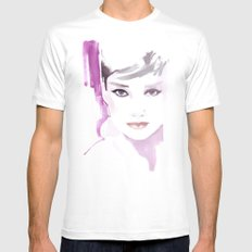 Fashion illustration in watercolors and ink White MEDIUM Mens Fitted Tee