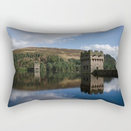 Derwent dam upper level Rectangular Pillow