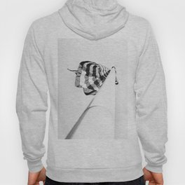one flag pole, black and white Hoody