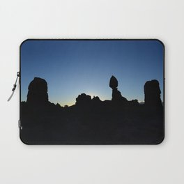 Balance Rock Silhouette  Laptop Sleeve