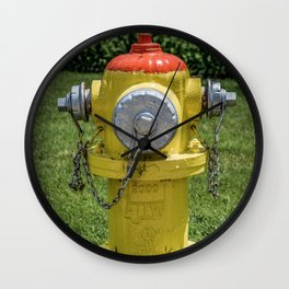 East Jordan Iron Works Orang and Yellow Fire Hydrant Fireplug Wall Clock