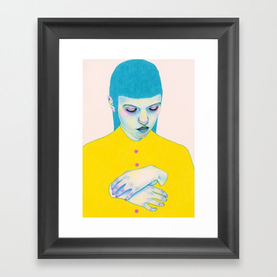 Shy Framed Art Print