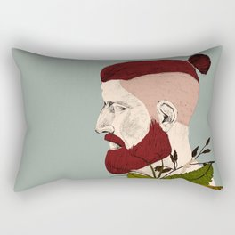 Rendered In Hipster Rectangular Pillow