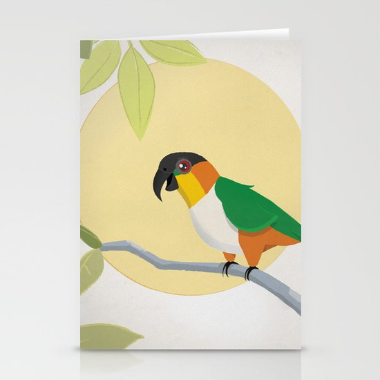 Black-Headed Caique Parrot Stationery Cards