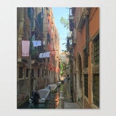 Venetian Waterway 2 Canvas Print