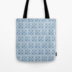 Blue Tile Pattern No. 3 Tote Bag