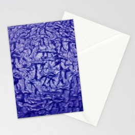 Blue Waves and Ripples Textured Wavelet Paint Art Stationery Cards