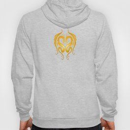 Yellow and Red Twin Tribal Dragons Hoody
