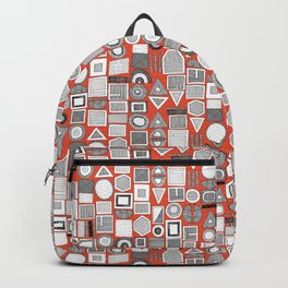 frisson memphis bw orange dash Backpack