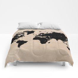 world map 94 black #worldmap #map #world Comforters