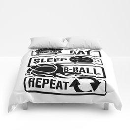 Eat Sleep B-Ball Repeat - Basketball Team Dunk Comforters