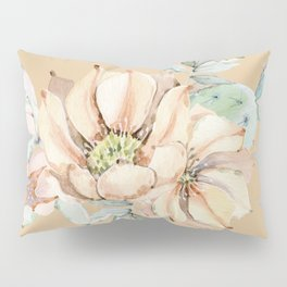 Desert Cactus Flower Apricot Coral Pillow Sham