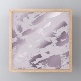 Blush lavender purple abstract glitter brushstrokes Framed Mini Art Print