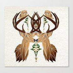 deer owl Canvas Print