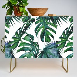 Tropical Palm Leaves Classic Credenza