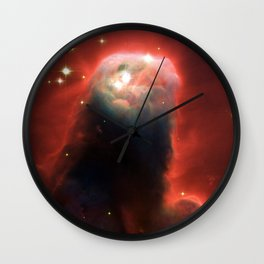 Space pillar of gas Wall Clock
