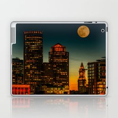 Boston Pink  Moon Laptop & iPad Skin