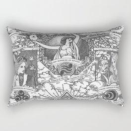 Legend of Zelda - The Three Goddesses of Hyrule Geek Line Artly Rectangular Pillow