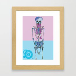 Hipster with a Beard and Other Vital organs Framed Art Print