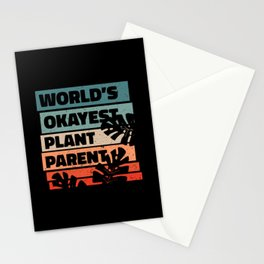 World's Okayest Plant Parent Plants Stationery Cards
