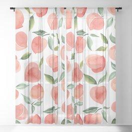 peaches Sheer Curtain