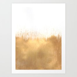 Brushed Gold Art Print