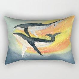 Whale Watercolor Rectangular Pillow