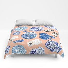 Chinoiserie Curiosity Cabinet Toss 1 Comforters