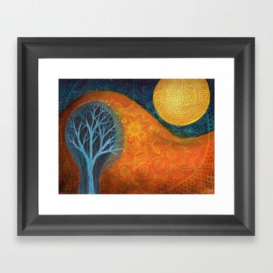Moon Tree Framed Art Print