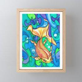 koi fish in the rivers. Framed Mini Art Print