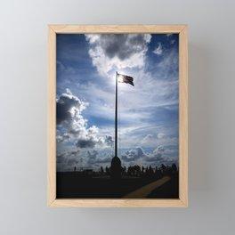Old Glory Over Fort Sumter Framed Mini Art Print