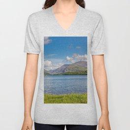 Lake Padarn Llanberis Snowdonia Unisex V-Neck