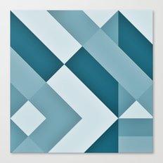 Turkish Blue Gradient Canvas Print