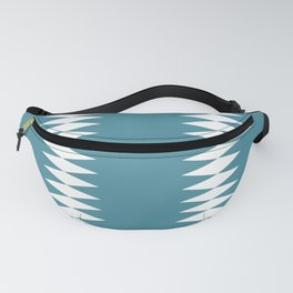 White and Blue   geometric artwork  abstract  A breakthrough towards the future Fanny Pack