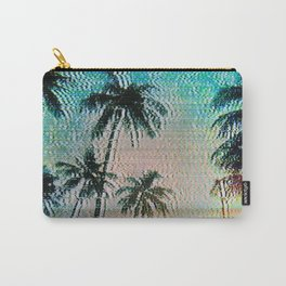 Analogue Glitch Palm Trees Sunrise Carry-All Pouch