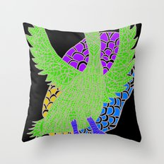 Flying Bird 2 Throw Pillow