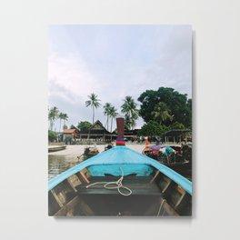 Long Boat Rides on Phi Phi Island Metal Print