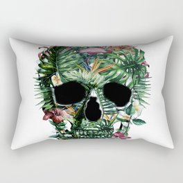 Tropical Skull Rectangular Pillow